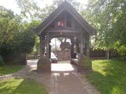 The Lych Gates at St. Mary Magdalene's Church, Whiston (nr Rotherham), South Yorkshire.