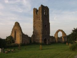 St Andrews Church a Ruin, at Roudham, Norfolk