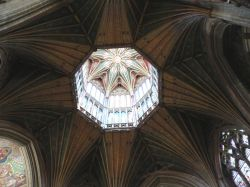 The amazing lantern inside the Octagon of Ely Cathedral