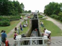 A picture of Foxton Locks
