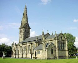 This is St Stephens Church, which is in Audenshaw.