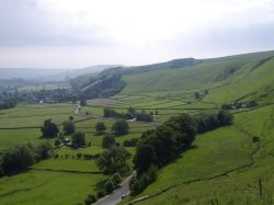 View from Treak Cavern, looking over Castleton.