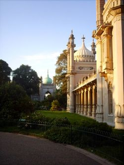 Brighton. The Royal Pavilion on a summers evening.