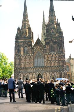 By Lichfield Cathedral - Ascension Day