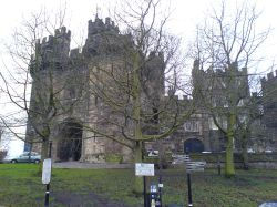 Lancaster Castle, the town of Lancaster - December,2005
