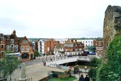 view of Tonbridge from Tonbridge Castle, Kent
