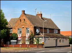 The Grey Horse pub, one of three pubs in the village of Collingham, Nottinghamshire.