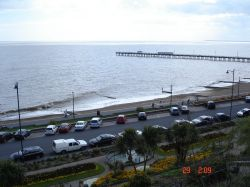 Felixstowe, Suffolk. Beach view from height