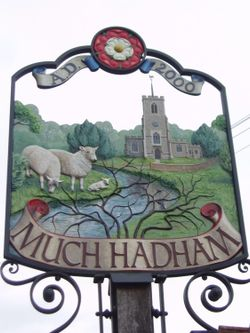 Much Hadham Village Sign, Hertfordshire