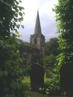 Hathersage Church. Derbyshire.