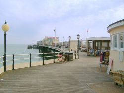 Worthing Pier entrance. Winner of BEST PIER OF THE YEAR 2006. West Sussex