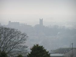 Picture of Lancaster taken from the Ashton Memorial