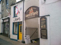 The world famous Laurel & Hardy Museum in Ulverston, Cumbria. Birthplace of Stan Laurel
