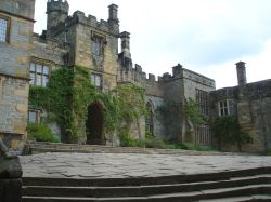 The central courtyard, Haddon Hall, Derbyshire