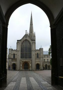 The West front of Norwich Cathedral.