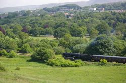 Overlooking East Lancs railway from St.Catherines Close, Ramsbottom