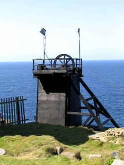 Levant Mine - Skip Shaft Head Gear. - A National Trust property near St. Just, Cornwall.