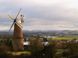 Quainton windmill, Buckinghamshire. New Year 2006.