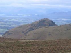 A stunning view from Earls Seat, on The Campsie's, above Strahblane looking north to Loch Lomond.