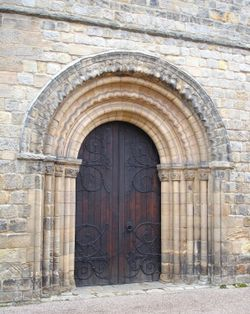Norman doorway, Parish Church at Melbourne, Derbyshire