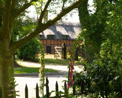 A thatched house in Steeple Claydon, Bucks. Picture taken from my garden!