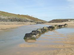 The lovely sandy beach at Crantock, Cornwall April '06