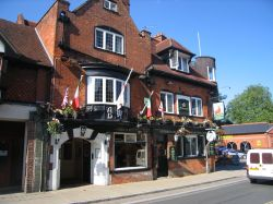 The Stag Hotel, Lyndhurst, New Forest, Hampshire.