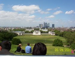 Taken in Greenwich, standing by the Observatory looking down over the hill.