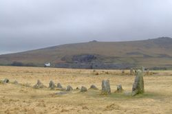 Merrivale rows also know has the Plague Market, - On Dartmoor