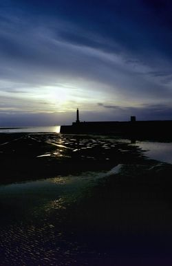 Sun setting on Margate in Kent. - April 2006