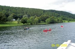 Having a good time on Lake Windermere, in September 2006