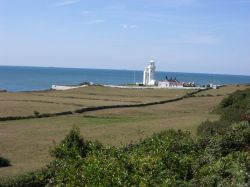Isle of Wight: St. Catherine's Lighthouse in early September 2006