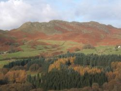 Looking across the Lickle Valley near Broughton Mills, Cumbria, in autumn.