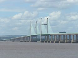 The New Severn Bridge from Severn Beach, Gloucestershire