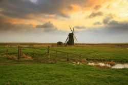 Herringfleet drainage mill near Somerleyton in Suffolk on the Southern Broads.