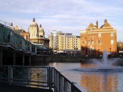Prince's Dock, Kingston upon Hull, East Yorkshire. Taken from Prince's Quay, December 2005.