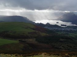 Looking over derwent, on the way up Skiddaw. Lake district