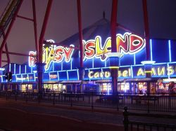 all lit up, fantasy island, Ingoldmells, Lincolnshire.