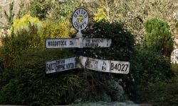 Signpost in the Oxfordshire village of Glympton