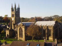 Tideswell Church, known as 'Cathedral of the Peak'. The centre piece of the village.