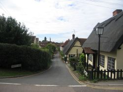 Castle lane, Castle Hedingham village, Essex
