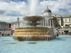 Fountain at Trafalgar Square, London