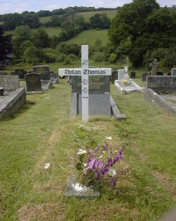 Dylan Thomas's Grave, Laugharne, Carmarthenshire, Wales