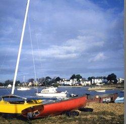Boats at Mudeford Quay, 1985