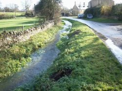 The Brook at Brook End in Chadlington, Oxfordshire.