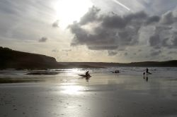 Late sun at Polzeath, Cornwall