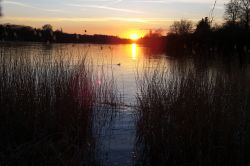 Sunset...Virginia Water lake, Surrey