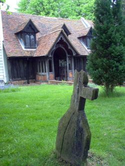 Greenstead Church, said to be the world's oldest wooden building, in Greenstead, England