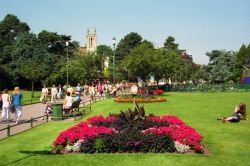 The Central Gardens in high season. Bournemouth, Dorset