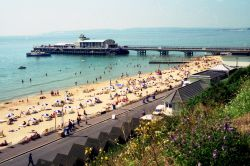 Bournemouth Pier and beach. Dorset
